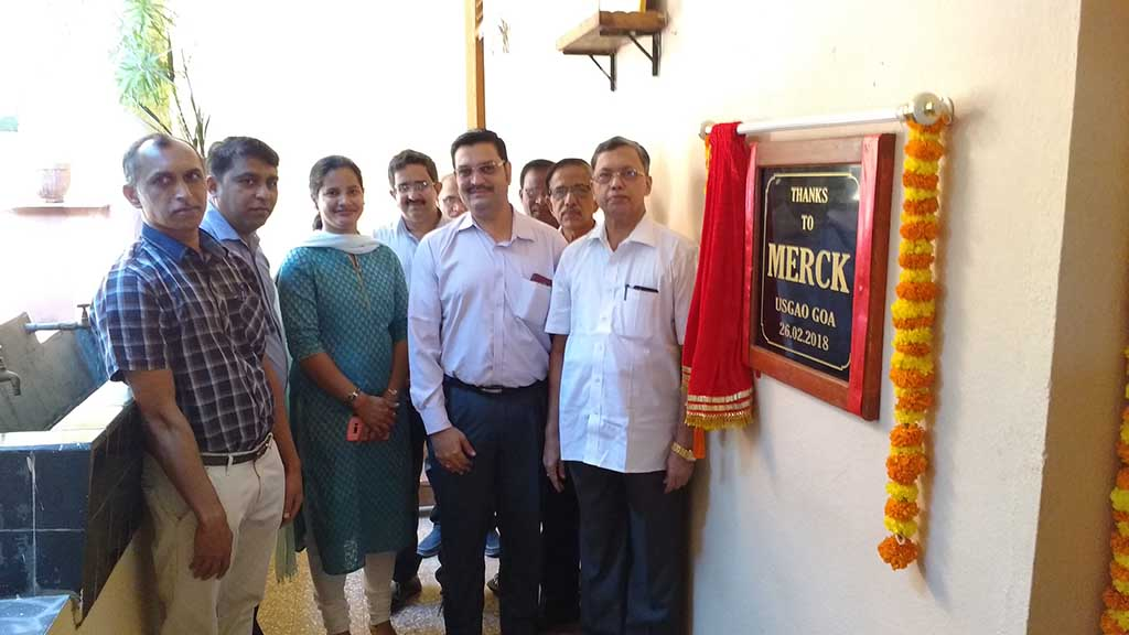 Inauguration of Smart Classroom Amenities by MERCK