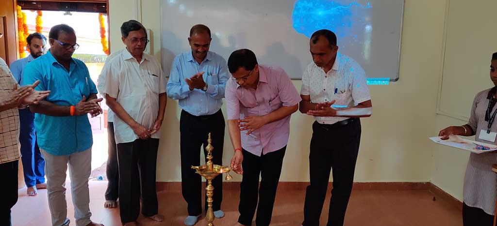 Computer Lab Inauguration By Ex MP South Goa Mr. Narendra Sawaikar