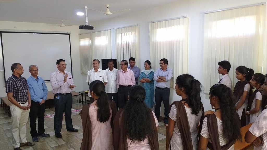 Mr. Shashishekhar Phirke, Director Merck Interacting with students